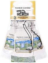 Парфюми, Парфюмерия, козметика Комплект ароматизатори за кола - Yankee Candle Car Jar Clean Cotton