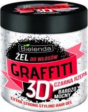 Парфюмерия и Козметика Гел за коса с черна ряпа - Bielenda GRAFFITI 3D Extra Strong Stayling Hair Gel