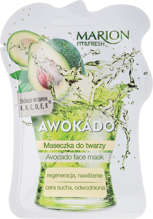 "Маска за лице ""Авокадо"" - Marion Fit & Fresh Avocado Face Mask"