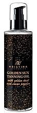 Парфюмерия и Козметика Масло за тен със златен прах - Hristina Cosmetics Golden Sun Tanning Oil