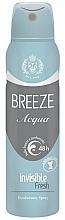 Парфюмерия и Козметика Спрей дезодорант - Breeze Acqua Invisible Fresh Deodorante Spray 48H