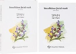 """Парфюмерия и Козметика Памучна маска за лице """"Испания"""" - Calluna Medica Spain Anti-Acne Biocellulose Facial Mask"""