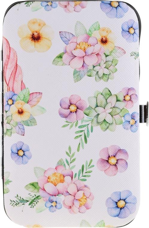 Маникюрен комплект 2429, бял с цветя - Donegal Manicure Set