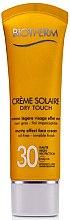 Парфюми, Парфюмерия, козметика Матиращ крем за лице - Biotherm Creme Solaire Dry Touch SPF30 (тестер)