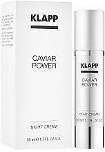 Парфюмерия и Козметика Нощен крем за лице с екстракт от хайвер - KlappCaviar Power Night Cream