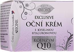 Парфюмерия и Козметика Крем за околоочния контур с хиалуронова киселина и Q10 - Bione Cosmetics Exclusive Organic Eye Cream With Q10