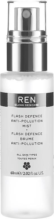 Защитен спрей за лице - Ren Flash Defence Anti-Pollution Mist — снимка N2