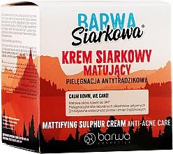 Парфюмерия и Козметика Матиращ крем със сяра - Barwa Anti-Acne Cream Sulfuric