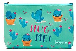 Парфюмерия и Козметика Козметичен несесер с принт, тюркоазен - IDC Design Accessories Cosmetig Bag