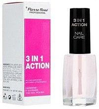 Парфюми, Парфюмерия, козметика Многофункционален продукт с активен втвърдител за нокти - Pierre Rene 3 in 1 Action Nail Care