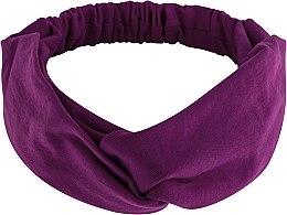 """Парфюмерия и Козметика Лента за глава, от плат, лилава """"Knit Twist"""" - MakeUp Hair Accessories"""