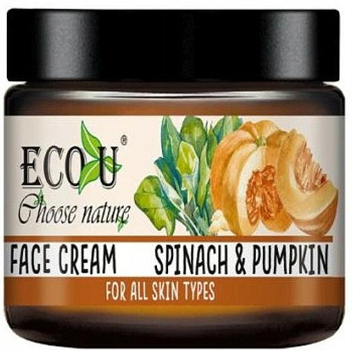 Крем за лице с екстракт от тиква и спанак - Eco U Pumpkins And Spinach Face Cream