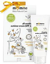 Парфюми, Парфюмерия, козметика Хипоалергенен защитен крем - Momme Baby Natural Care All Weather Outdoor Cream SPF25