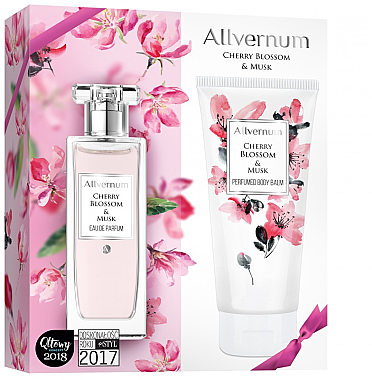 Allverne Cherry Blossom & Musk - Комплект (парф. вода/50ml + лосион за тяло/200ml) — снимка N1