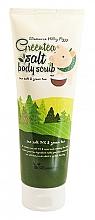Парфюмерия и Козметика Скраб за тяло с екстракт от зелен чай - Elizavecca Body Care Milky Piggy Greentea Salt Body Scrub