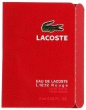 Парфюми, Парфюмерия, козметика Lacoste Eau De L.12.12 Rouge - Тоалетна вода (мостра)