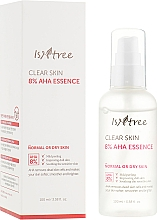 Парфюмерия и Козметика Есенция за лице с млечна и гликолова киселина - IsNtree Clear Skin 8% Aha Essence