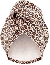 Парфюмерия и Козметика Кърпа-тюрбан за коса, леопардова - Glov Hair Wrap