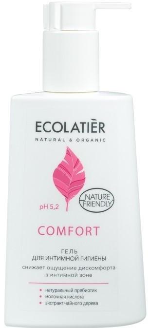 Гел за интимна хигиена с млечна киселина и пробиотик - Ecolatier Comfort — снимка N1