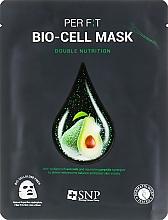 Парфюмерия и Козметика Биоцелулозна маска за лице с екстракт от авокадово масло - SNP Double Nutrition Bio-Cell Mask