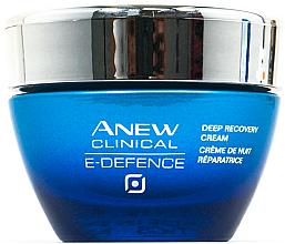 """Парфюми, Парфюмерия, козметика Нощен крем за лице с дълбоко действие """"Защита и възстановяване"""" - Avon Anew Clinical E-Defence Deep Recovery Cream"""