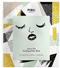 Парфюми, Парфюмерия, козметика Почистваща маска за лице със зелен чай и глина - Pibu Beauty Green Tea Purifying Clay Mask