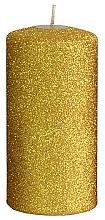 Парфюмерия и Козметика Декоративна свещ, златиста, 7x14 см - Artman Glamour