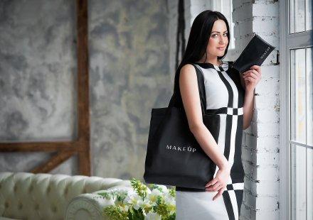 Черна чанта (38 х 39,5 х 8,7 см) - MakeUp  — снимка N4