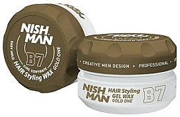 Парфюмерия и Козметика Стилизираща вакса-гел за коса - Nishman Hair Styling Gel Wax B7 Gold One
