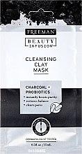 Парфюмерия и Козметика Почистваща маска за лице с активен въглен и пробиотици - Freeman Beauty Infusion Cleansing Clay Mask Charcoal & Probiotics (мини)