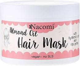 Парфюмерия и Козметика Маска за коса - Nacomi Almond Oil Hair Mask