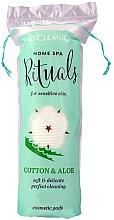 Парфюми, Парфюмерия, козметика Козметични памучни тампони, 70бр - Cleanic Home Spa Ritualy Cotton & Aloe