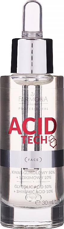 Гликолова киселина 50% и шикимова киселина 10% за пилинг - Farmona Professional Acid Tech Glycolic Acid 50% + Shikimic Acid 10%