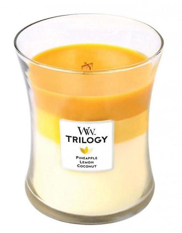 Ароматна свещ в чаша - WoodWick Hourglass Trilogy Candle Fruits of Summer — снимка N1