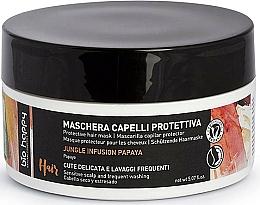 Парфюмерия и Козметика Защитна маска за коса с папая - Bio Happy Jungle Infusion Protective Hair Mask