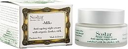 Парфюмерия и Козметика Възстановяващ крем за лице - Sostar Anti-Aging Night Cream Enriched With Bio Donkey Milk