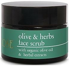 Парфюмерия и Козметика Скраб за лице с маслиново масло и растителни екстракти - Yellow Rose Olive & Herbs Face Scrub
