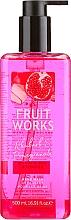 """Парфюмерия и Козметика Сапун за ръце """"Ревен и Нар"""" - Grace Cole Fruit Works Hand Wash Rhubarb & Pomegranate"""