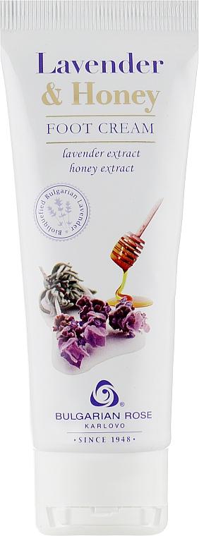 Крем за крака с екстракт от лавандула и мед - Bulgarian Rose Lavender And Honey Foot Cream