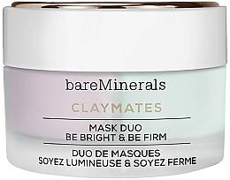 Парфюмерия и Козметика Двойна изсветляваща и укрепваща маска за лице - Bare Escentuals Bare Minerals Claymates Be Bright & Be Firm Mask Duo