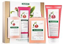 Парфюмерия и Козметика Комплект за коса - Klorane Pomegranate (шамп./200ml + балсам/200ml)