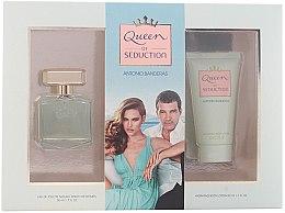 Парфюми, Парфюмерия, козметика Antonio Banderas Queen of Seduction - Комплект (тоал. вода/50ml + лосион за тяло/50ml)