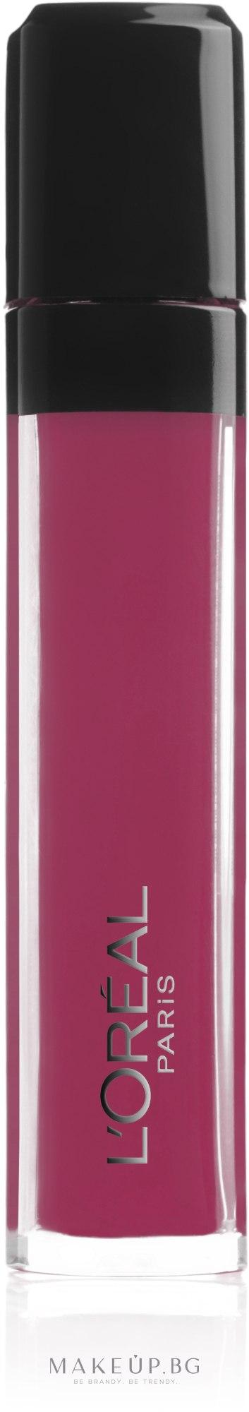 Блясък за устни - L'Oréal Infallible Xtreme Resist Gloss — снимка 407 - Smoke Me Up Matte