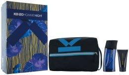 Парфюми, Парфюмерия, козметика Kenzo Homme Night - Комплект (edt/100ml + sh/gel/50ml + bag)