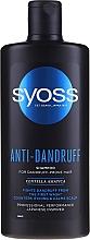 Парфюмерия и Козметика Шампоан за коса против пърхот с азиатска центела - Syoss Anti-Dandruff Centella Asiatica Shampoo