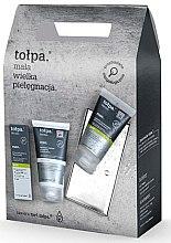 Парфюми, Парфюмерия, козметика Комплект за мъже - Tolpa Dermo Men Pure (крем-гел/40ml + афтър. балсам/125ml + измиващ гел/150ml)