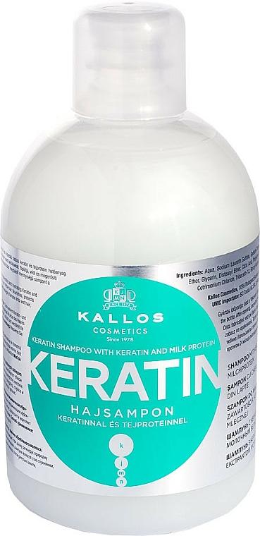 Шампоан с кератин и млечни протеини - Kallos Cosmetics Keratin Shampoo