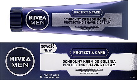 Крем за бръснене - Nivea For Men Protect & Care Shaving Cream — снимка N1