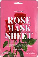 Парфюмерия и Козметика Лифтинг маска за лице с екстракт от роза - Kocostar Slice Mask Sheet Rose