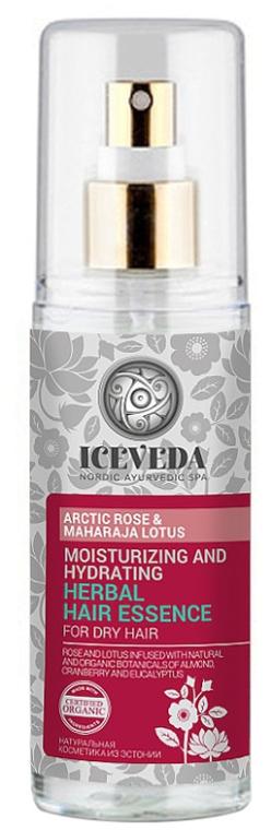 Есенция за коса - Natura Siberica Iceveda Arctic Rose&Maharaja Lotus Moisturizing and Hydrating Herbal Hair Essence — снимка N1